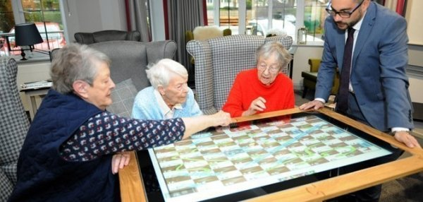 Sharp Interactive Touchscreen Table: Meet UP - Care Home Edition 14