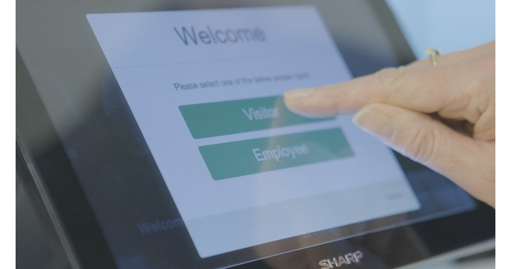 sharp_optimised_visitor_management_touchscreen